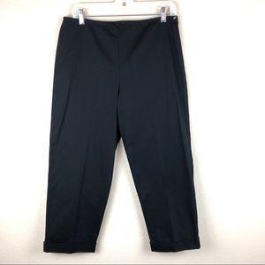 Karen Kane | Black High Waisted Cuffed Pants